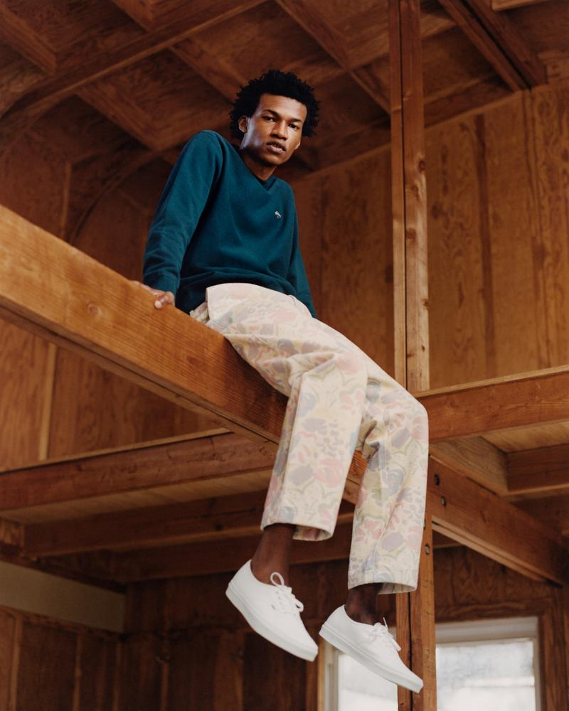 noah clothing ny spring summer 2021 collection campaign sweater pants trousers