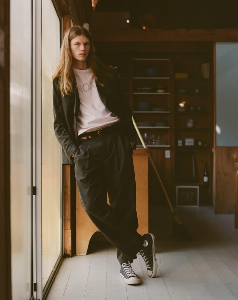 noah clothing ny spring summer 2021 collection campaign menswear jacket pants