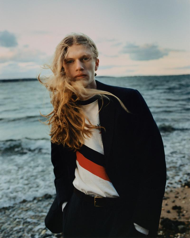 noah clothing ny spring summer 2021 collection campaign menswear jacket beach