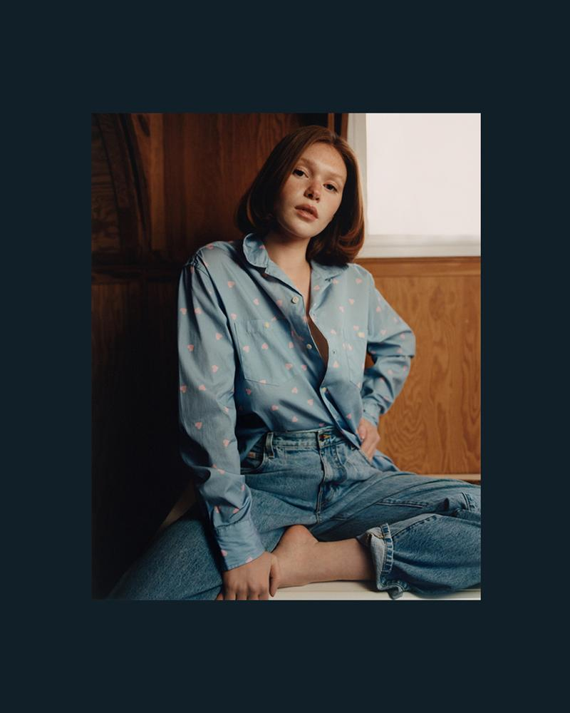 noah clothing ny spring summer 2021 collection campaign womenswear jeans shirt