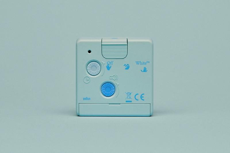 off-white braun alarm clocks collaboration home decor accessories blue back control buttons