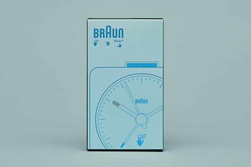 off-white braun alarm clocks collaboration home decor accessories blue box packaging