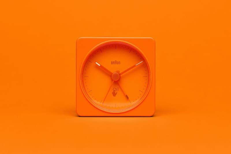 off-white braun alarm clocks collaboration home decor accessories orange front
