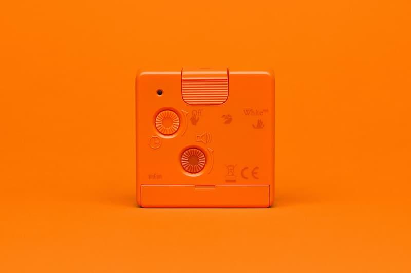 off-white braun alarm clocks collaboration home decor accessories orange back details buttons
