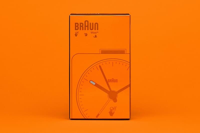 off-white braun alarm clocks collaboration home decor accessories orange box
