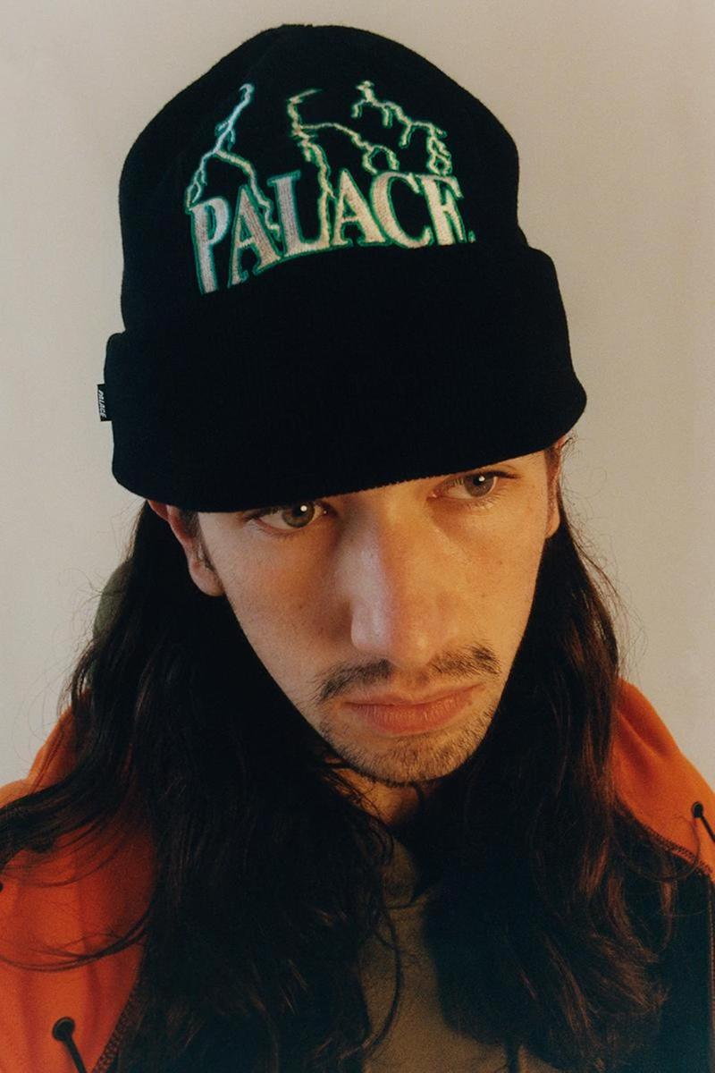 palace skateboards spring summer collection lookbook beanie black green
