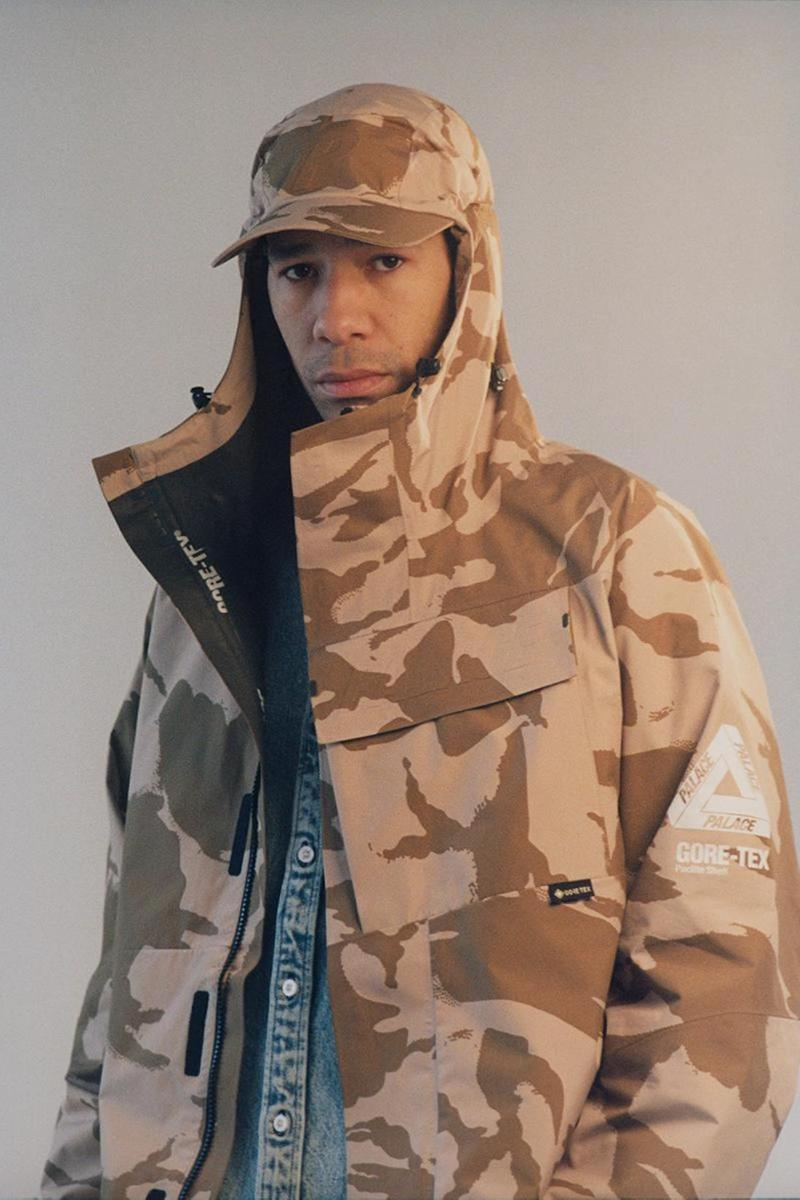 palace skateboards spring summer collection lookbook camo hat jacket outerwear brown gore tex