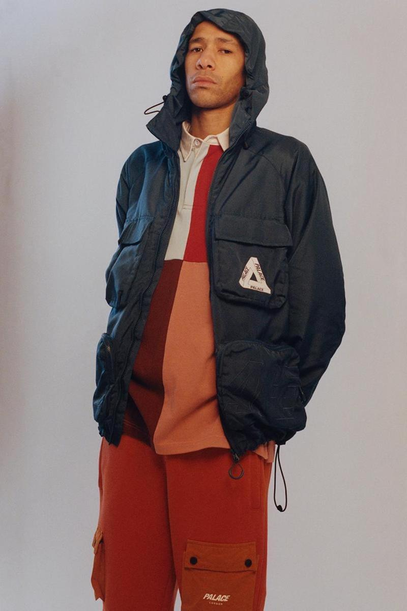 palace skateboards spring summer collection lookbook outerwear gore tex jacket tee pants
