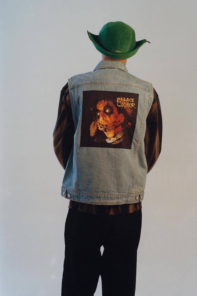 palace skateboards spring summer collection lookbook hat denim vest jacket pants