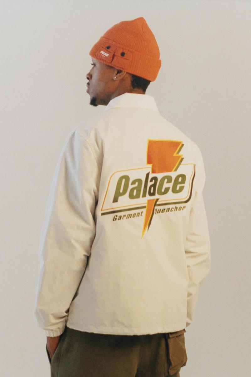 palace skateboards spring summer collection lookbook jacket outerwear beanie