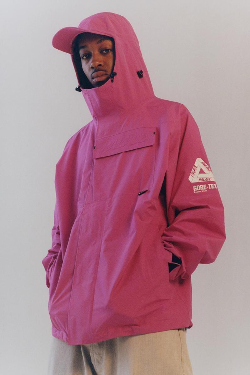 palace skateboards spring summer collection lookbook gore tex outerwear jacket pants