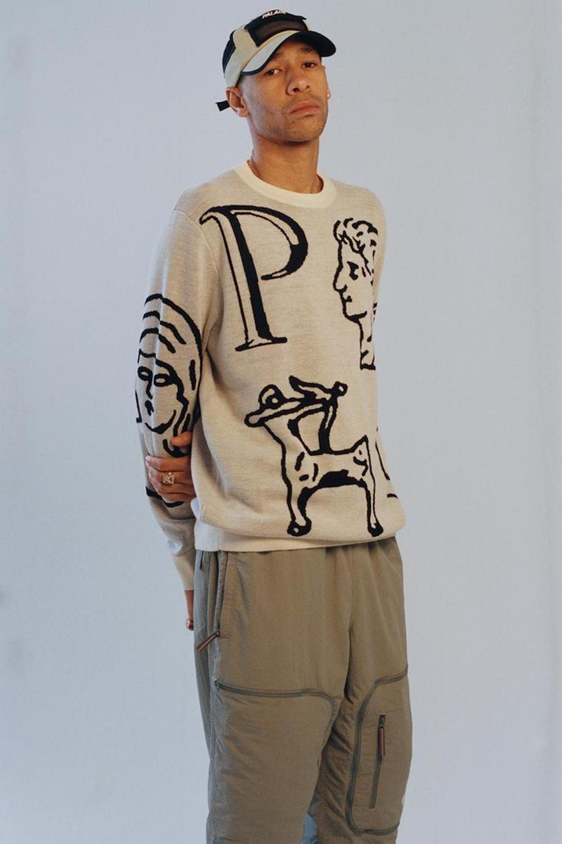 palace skateboards spring summer collection lookbook sweater hat cap pants