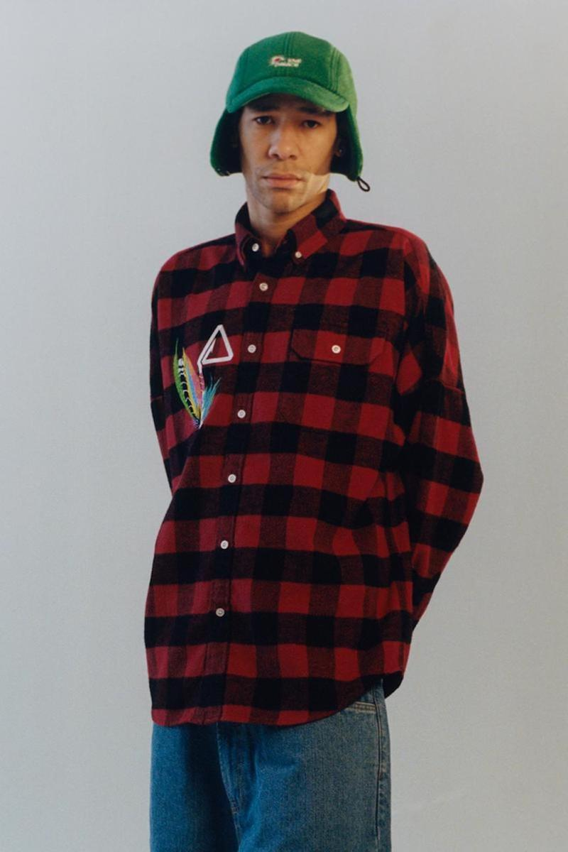 palace skateboards spring summer collection lookbook flannel hat jeans