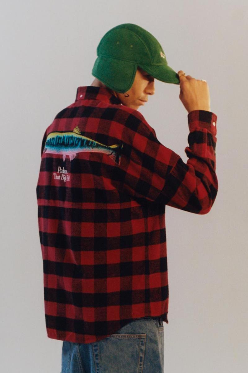 palace skateboards spring summer collection lookbook hat flannel jeans