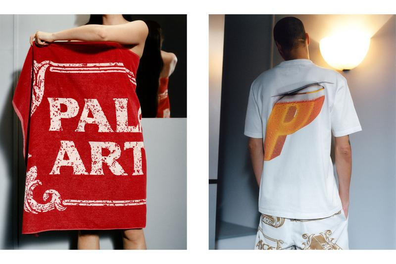 palace skateboards stella artois beer collaboration collection beach towel tshirt