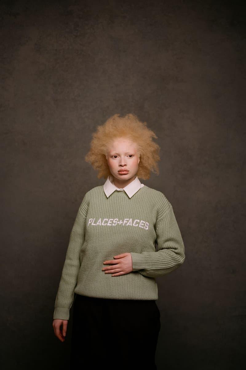 places plus faces 2021 first drop knitwear sweater logo shirt collar
