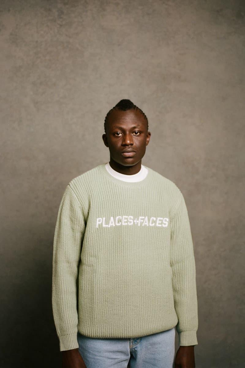 places plus faces 2021 first drop knitwear sweater logo jeans mint