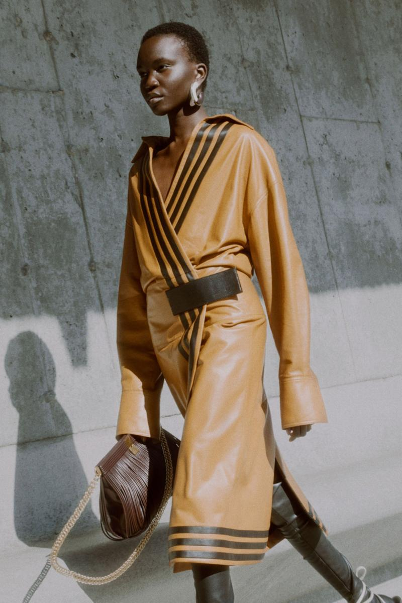 proenza schouler fall winter 2021 fw21 collection lookbook new york fashion week nyfw leather wrap coat dress