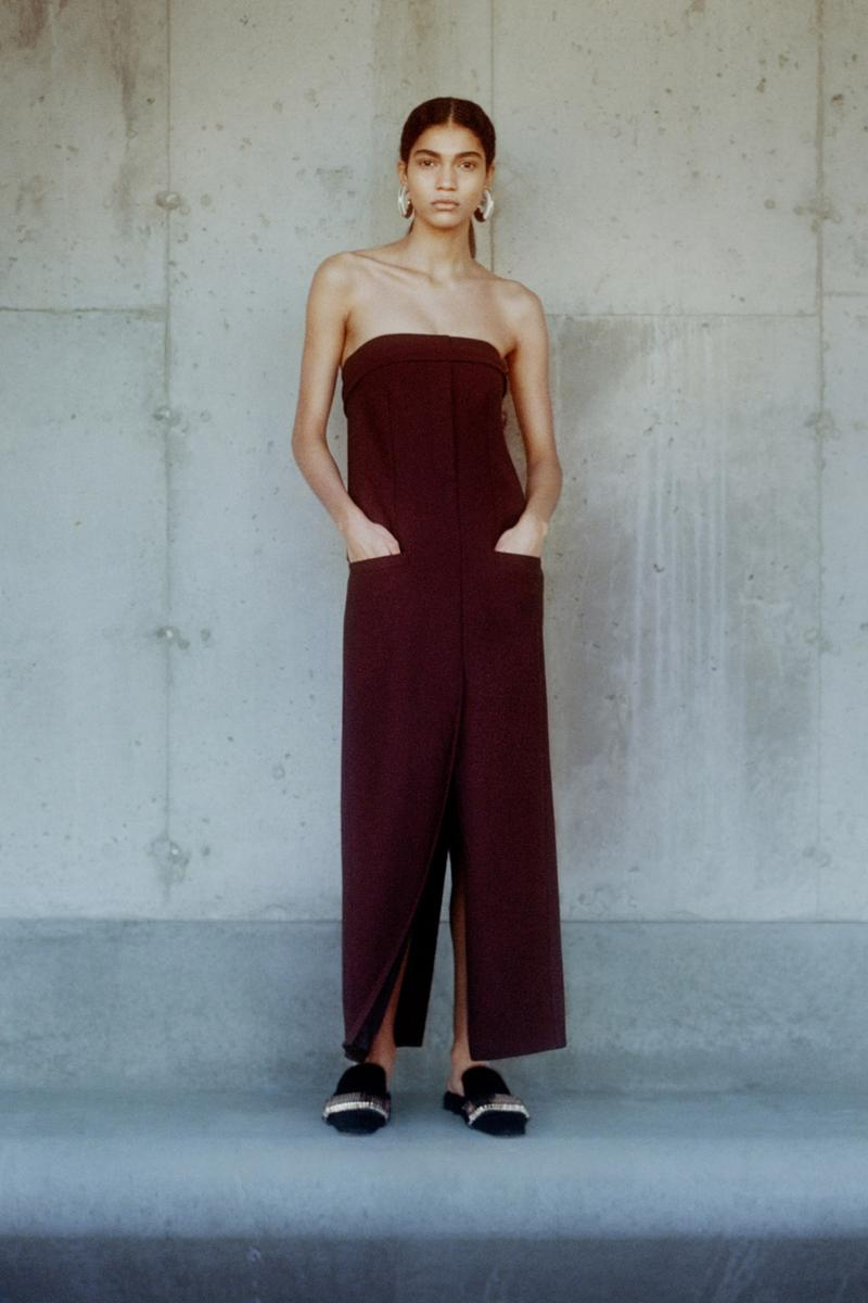 proenza schouler fall winter 2021 fw21 collection lookbook new york fashion week nyfw jumpsuit burgundy