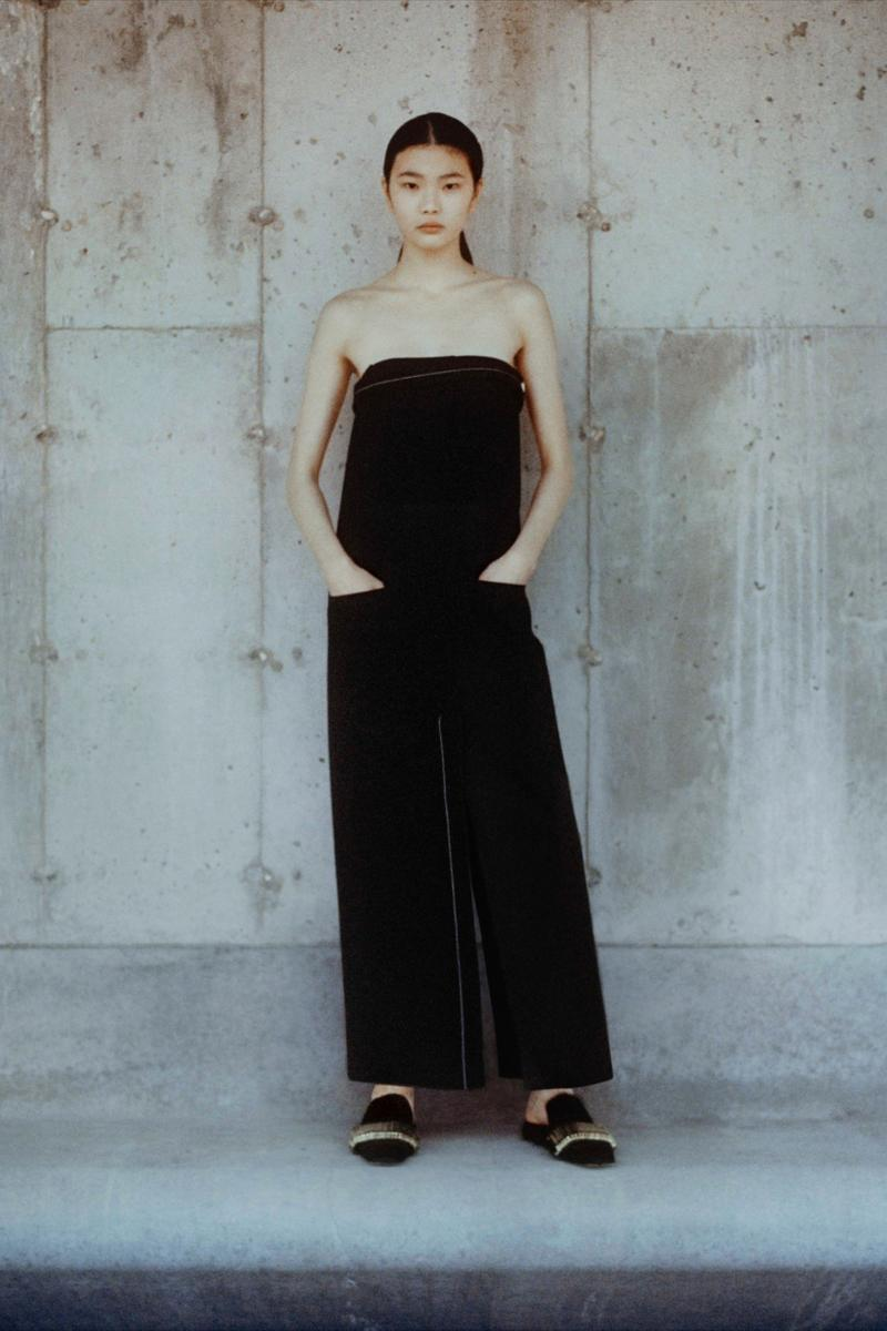 proenza schouler fall winter 2021 fw21 collection lookbook new york fashion week nyfw strapless dress