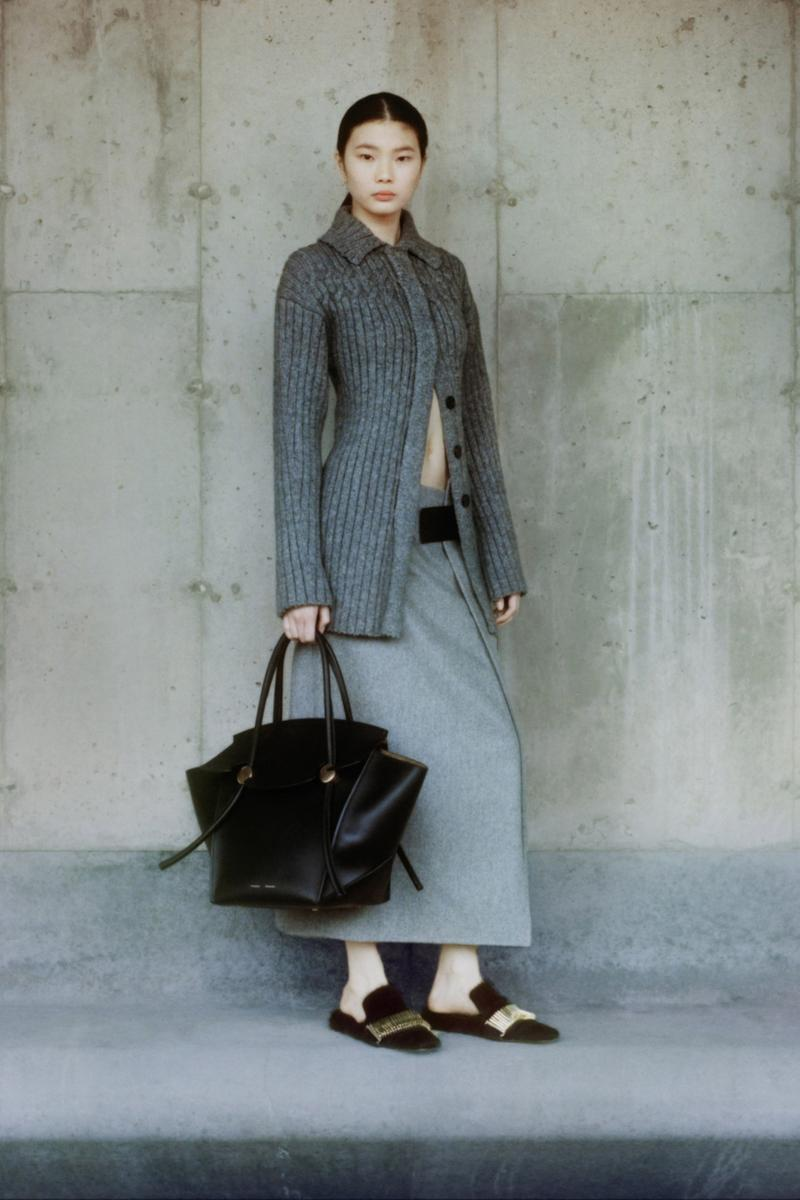 proenza schouler fall winter 2021 fw21 collection lookbook new york fashion week nyfw ribbed knit shirt top