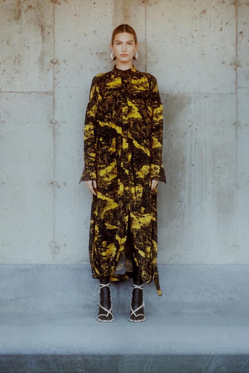 proenza schouler fall winter 2021 fw21 collection lookbook new york fashion week nyfw print pattern coat