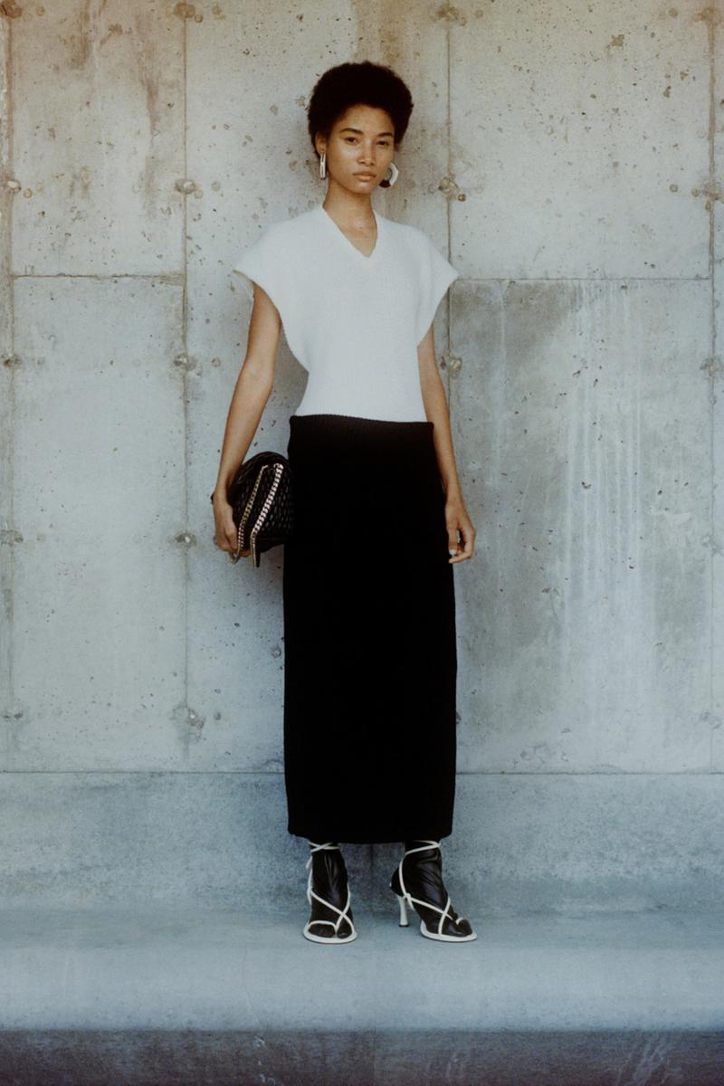 proenza schouler fall winter 2021 fw21 collection lookbook new york fashion week nyfw whit black heels skirt