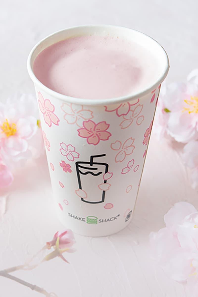 shake shack japan sakura cherry blossom drinks shack-ura pink
