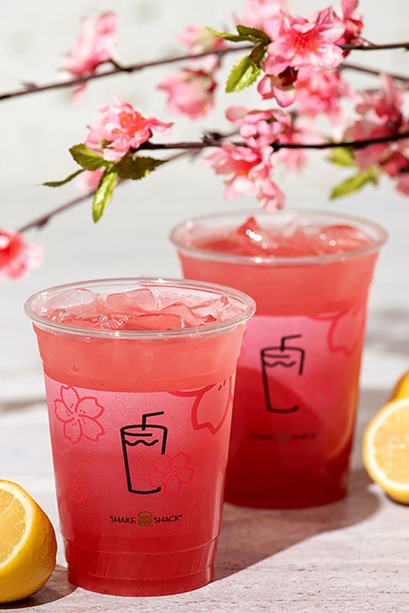 shake shack japan sakura cherry blossom drinks shack-ura lemonade pink