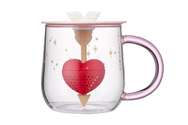 starbucks korea valentines day merch collection color changing tea infuser glass heart