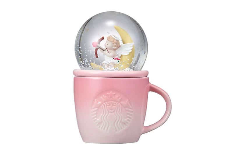 starbucks korea valentines day merch collection cupid water globe mug coffee