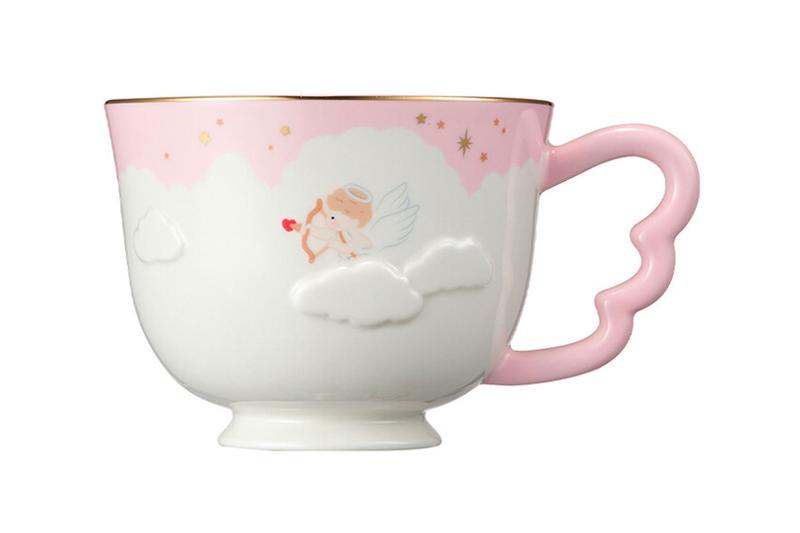 starbucks korea valentines day merch collection cupid couple pink coffee mug