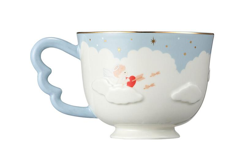starbucks korea valentines day merch collection cupid couple blue coffee mug