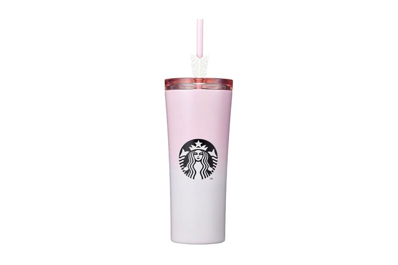 starbucks korea valentines day merch collection cupid phinney tumbler pink