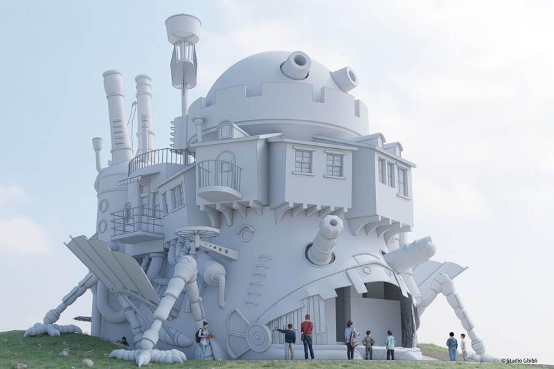Ghibli Park Howl's Moving Castle Replica Real-Life