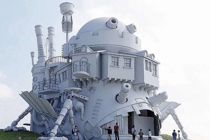 studio ghibli theme park howls moving castle replica real life first look hayao miyazaki sketch