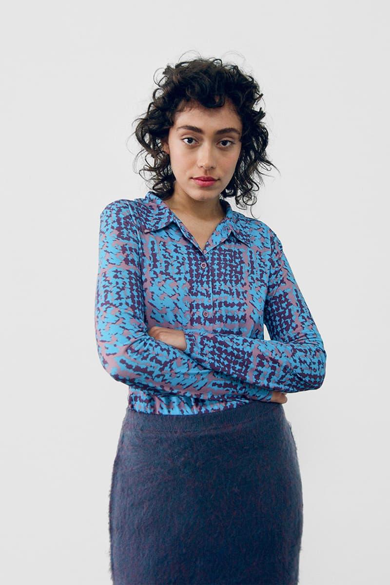 stussy spring 2021 collection lookbook womenswear pattern print shirt skirt