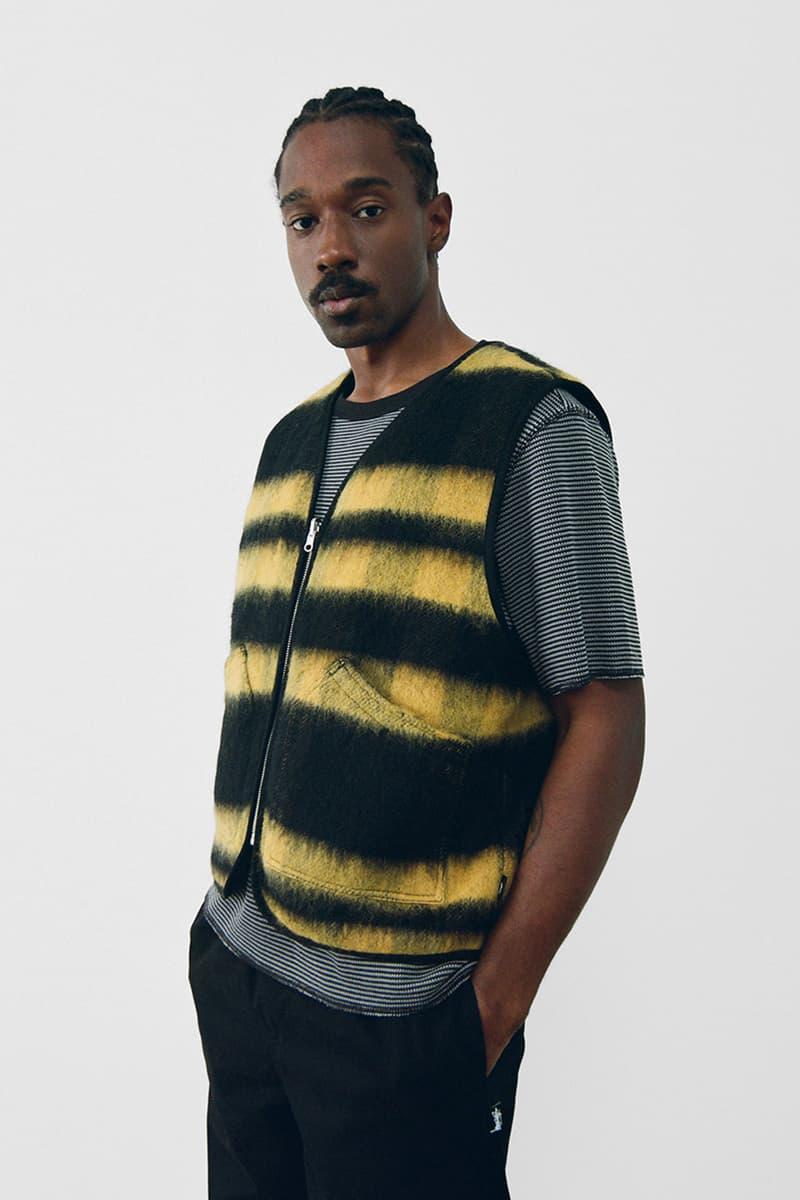 stussy spring 2021 collection lookbook womenswear striped vest tshirt