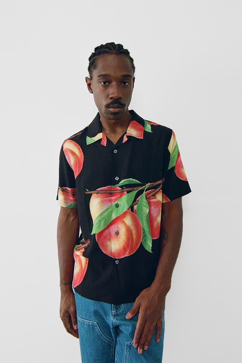 stussy spring 2021 collection lookbook womenswear apple print shirt