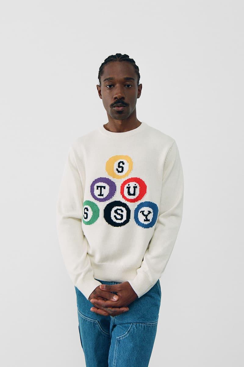 stussy spring 2021 collection lookbook womenswear billiard sweater knitwear
