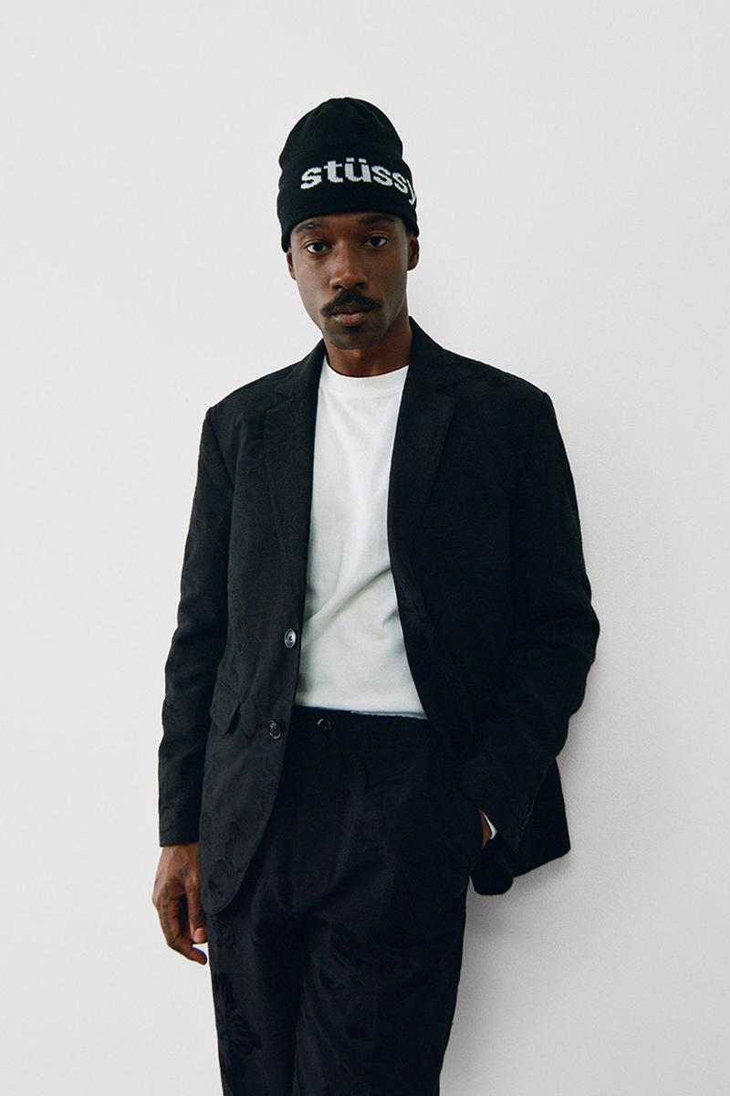 stussy spring 2021 collection lookbook womenswear suit beanie