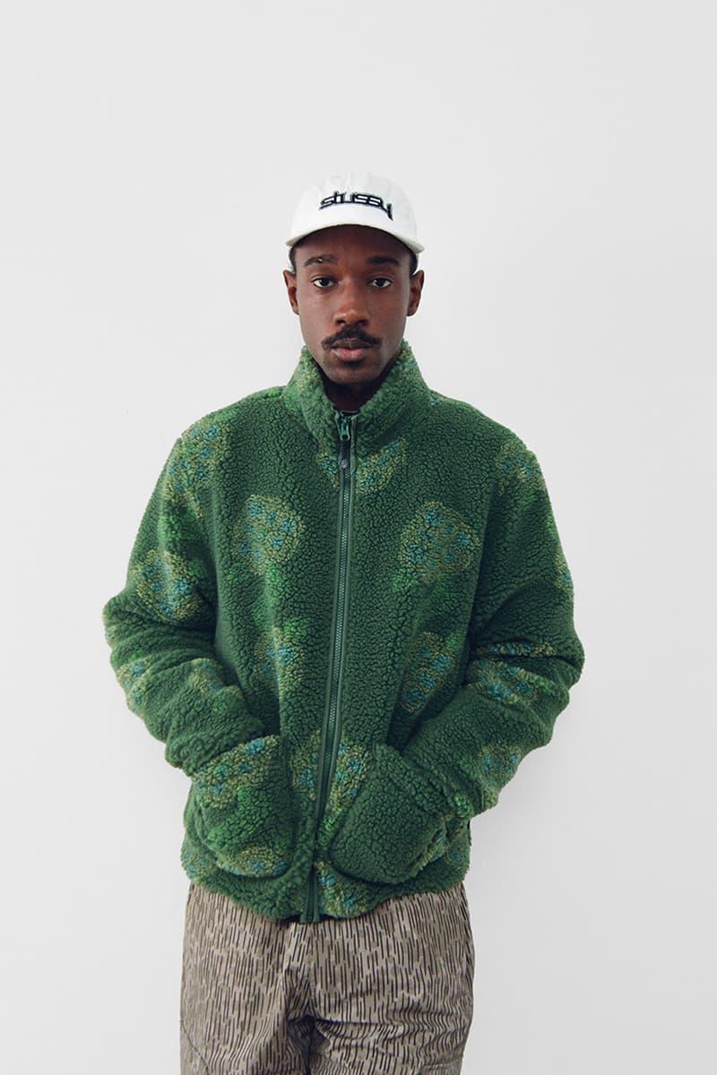 stussy spring 2021 collection lookbook womenswear fleece jacket hat cap