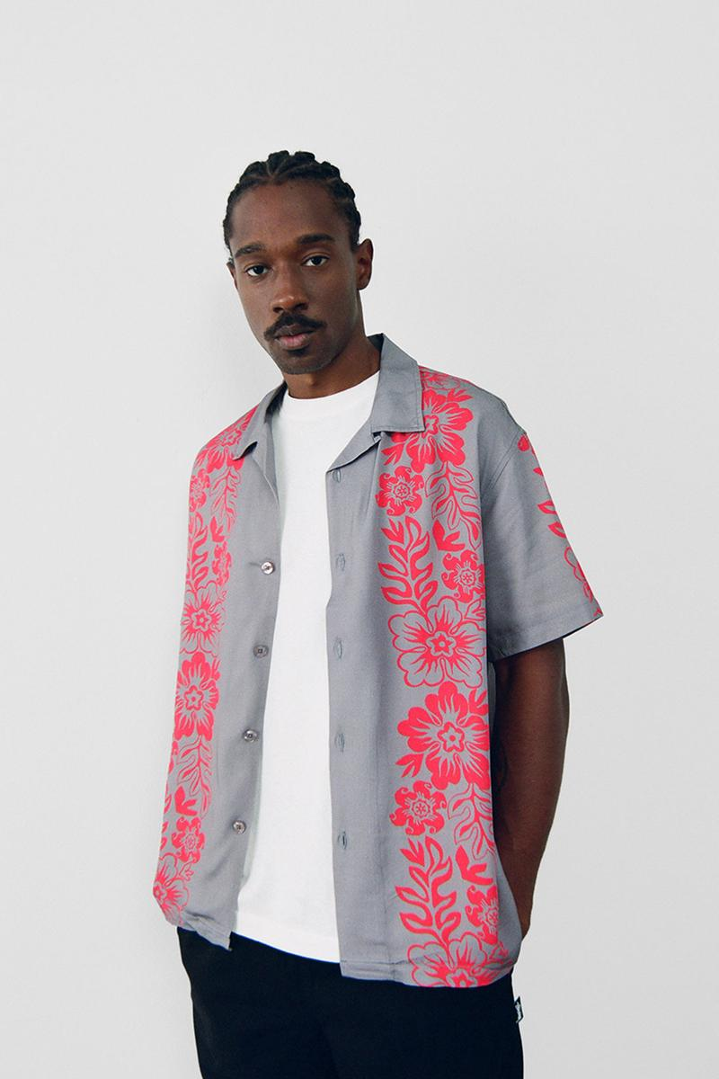stussy spring 2021 collection lookbook womenswear print pattern short sleeve shirt
