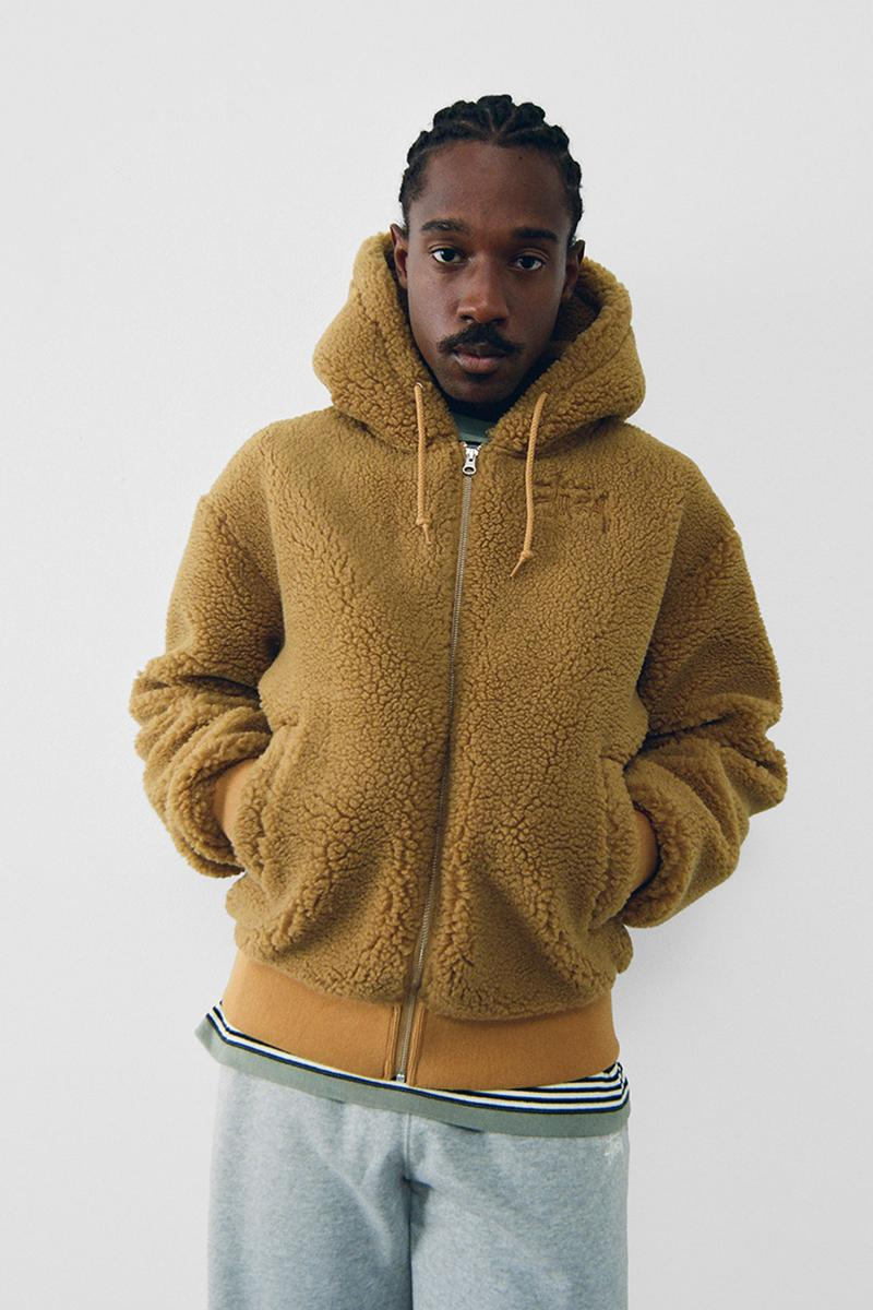 stussy spring 2021 collection lookbook womenswear fleece jacket hoodie zip