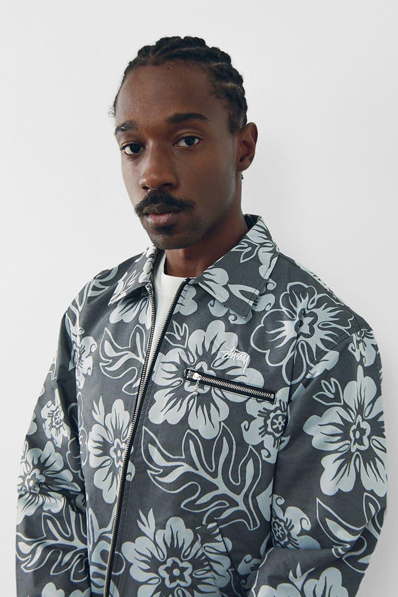 stussy spring 2021 collection lookbook womenswear print pattern floral denim jacket