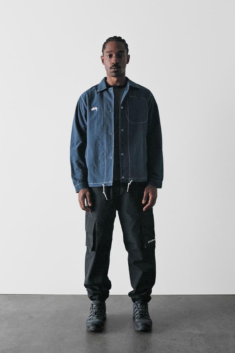stussy spring 2021 collection lookbook womenswear denim jacket trousers