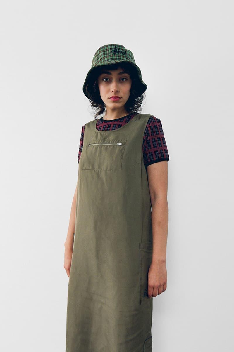 stussy spring 2021 collection lookbook womenswear dress tshirt bucket hat