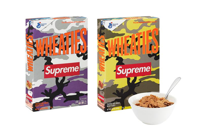 supreme spring summer 2021 ss21 collection drop accessories wheaties cereal food