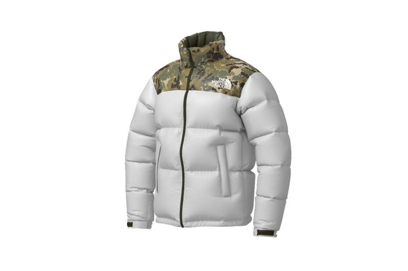 the north face japan 141 customs program outerwear jackets gray camo