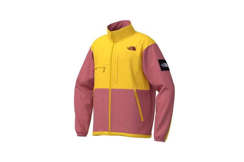 the north face japan 141 customs program outerwear jackets pink yellow